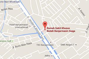 Peta Lokasi RSKB Banjarmasin Siaga
